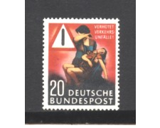 1953 - LOTTO/5282N - GERMANIA FEDERALE - 20p. PREVENZIONE INCIDENTI - NUOVO