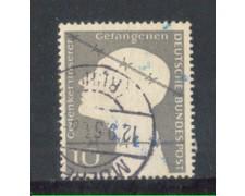 1953 - LOTTO/10497U - GERMANIA FEDERALE - 10p. PRIGIONIERI DI GUERRA - USATO