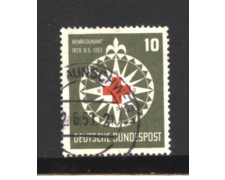 1953 - LOTTO/10498U - GERMANIA FEDERALE - 10p. HENRY DUNANT - USATO