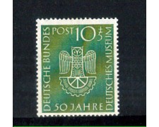 1953 - LOTTO/10499 - GERMANIA FEDERALE - CINQUANTENARIO DEUTSCHES MUSEUM  - NUOVO