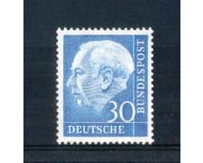 1954 - LOTTO/10502 - GERMANIA FEDERALE - 30p. EFFIGIE HEUSS - NUOVO