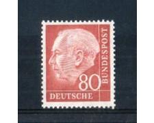 1954 - LOTTO/10505 - GERMANIA FEDERALE - 80p. HEUSS - NUOVO