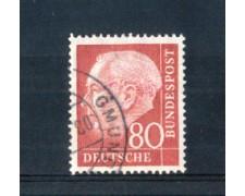 1954 - LOTTO/10505U - GERMANIA FEDERALE - 80p. HEUSS - USATO