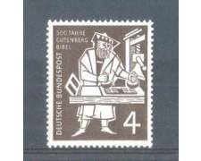 1954 - LOTTO/10509 - GERMANIA FEDERALE - 4p. BIBBIA DI GUTENBERG - NUOVO