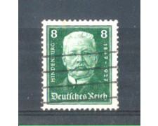 1927 - LOTTO/GER394U - GERMANIA REICH - 8p. HINDENBURG - USATO