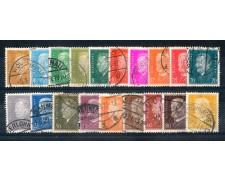 1928 - LOTTO/REG414CPU - GERMANIA REICH - EFFIGI DI EBERT e HINDEMBURG - USATI