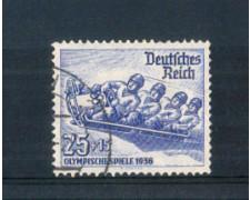 1935 - LOTTO/GER561U - GERMANIA REICH - 25+15p. OLIMPIADI BOB - USATO