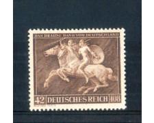 1941 - LOTTO/GER704L - GERMANIA REICH - 8° NASTRO AZZURRO - LINGUELLATO
