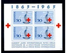 1963 - LOTTO/SVIBF19N - SVIZZERA - CENTENARIO CROCE ROSSA FOGLIETTO - NUOVO