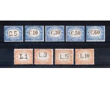 1925 - LOTTO/RSM10600 - SAN MARINO - SEGNATASSE 9v. - NUOVI