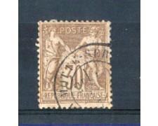 1876/81 - LOTTO/FRA69U - FRANCIA - 30c. BRUNO CHIARO - USATO