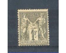 1876/81 - LOTTO/FRA72U - FRANCIA - 1 Fr. VERDE BRONZO - USATO