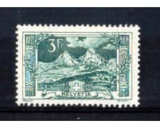 1914 - LOTTO/1609L - SVIZZERA - 3 Fr. VEDUTE MONTI SVIZZERI MYTHEN - LING.