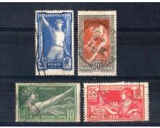 1924 - LOTTO/FRA186CPU - FRANCIA - OLIMPIADI DI PARIGI - USATI