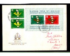 1959 - LOTTO/10624  - SVIZZERA - NABAG FOGLIETTO - BUSTA