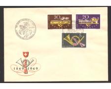 1949 - LOTTO/10626 - SVIZZERA - CENTENARIO POSTE FEDERALI - BUSTA
