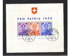 1936 - LOTTO/10632U - SVIZZERA - PRO PATRIA DIFESA NAZIONALE - FOGLIETTO USATO