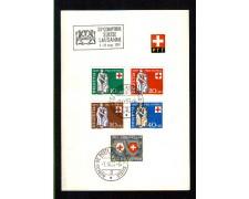 1957 - LOTTO/SVI594CPUF - SVIZZERA - PRO PATRIA 5v. -  FOLDER POSTE