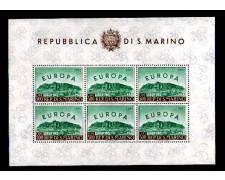 1961 - LOTTO/10634N - SAN MARINO - EUROPA FOGLIETTO - NUOVO