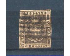 TOSCANA - 1860 - LOTTO/10638 - 10 CENT. BRUNO - USATO