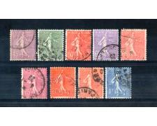 1924 - LOTTO/FRA205CPU - FRANCIA - SEMINATRICE 9v. - USATI