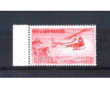 1961 - LOTTO/2646A - SAN MARINO - 1000 LIRE ELICOTTERO - NUOVO