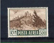 1951 - LOTTO/10646 - SAN MARINO - 500 LIRE VEDUTA POSTA AEREA - LING.