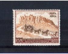 1951 - LOTTO/10649 - SAN MARINO - 75° ANNIVERSARIO U.P.U. POSTA AEREA - NUOVO