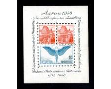 1938 - LOTTO/10651N - SVIZZERA - ESPOSIZIONE FILATELICA AARAU FOGLIETTO - NUOVO