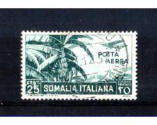 1936 - LOTTO/10652U - SOMALIA  ITALIANA - 25 CENT. POSTA AEREA - USATO