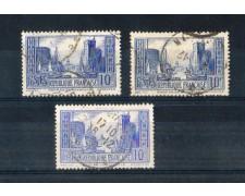 1929 - LOTTO/FRA261UDT - FRANCIA - 10 Fr. AZZURRO MONUMENTI - USATI
