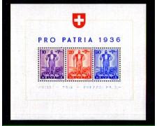 1936 - LOTTO/10632L - SVIZZERA - PRO PATRIA DIFESA NAZIONALE - FOGLIETTO  LING.