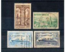 1935/36 - LOTTO/FRA302CPU - FRANCIA - SOGGETTI DIVERSI 4v. - USATI