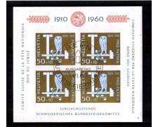 1960 - LOTTO/SVIBF17U - SVIZZERA - CINQUANTENARIO PRO PATRIA FOGLIETTO - USATO