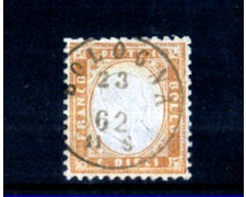 1862 - LOTTO/10669 - REGNO - 10 CENT. BISTRO EFFIGIE - USATO