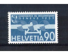 1932 - LOTTO/10719 - SVIZZERA - 90 CENT. POSTA AEREA - NUOVO