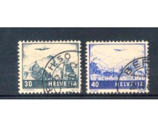 1948 - LOTTO/SVIA43CPU2 - SVIZZERA - POSTA AEREA 2v. - USATI