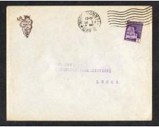 1944 - LBF/1486 - BUSTA DA MILANO PER LECCO