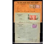 1921/25 - LOTTO/10747 - UNGHERIA - INSIEME DI TRE BUSTE VIAGGIATE PER L'ITALIA