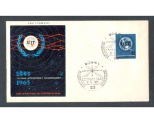 1965 - LOTTO/1434 - GERMANIA - CENTENARIO UIT - BUSTA FDC