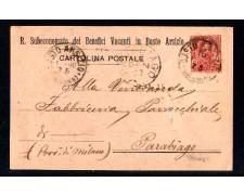 BUSTO ARSIZIO - 1898 - LOTTO/10772 - REGNO - BENEFICI VACANTI CARTOLINA POSTALE