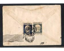 1921 - LOTTO/10774 - FIUME - 15/25 CENT. SU BUSTA PER MILANO