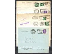 1939/4o - LOTTO/10775 - REGNO - INSIEME DI 5 BUSTE  PERFIN