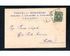 MILANO - 1896 - LOTTO/10781 - FLLI. ROMANONI MOLINO A VAPORE - CARTOLINA