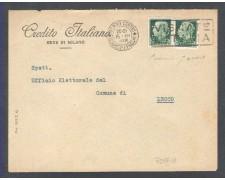1938 - LOTTO/10783 - REGNO - 25 CENT. CON PERFORAZIONE C.I. SU BUSTA