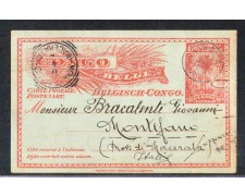 1912 - LBF/3067 - CONGO BELGA - CARTOLINA POSTALE PER L'ITALIA