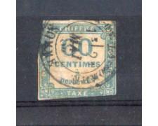 1871 - LOTTO/10864 - FRANCIA - 60c. AZZURRO SEGNATASSE - USATO