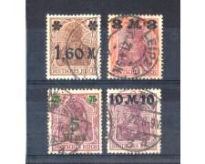 1921 - LOTTO/10866 - GERMANIA - SOPRASTAMPATI 3v. - USATI