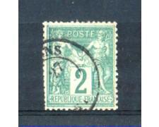 1876/81 - LOTTO/FRA74U - FRANCIA - 2c. VERDE - USATO