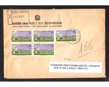1968 - LBF/1418 - REPUBBLICA - CENTRO SPAZIALE DEL FUCINO - BUSTA RACC.FDC